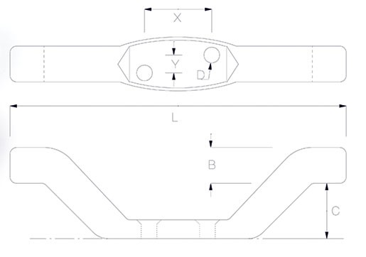 Petersen halyard cleat dimensions