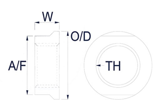 Petersen locking nut dimensions