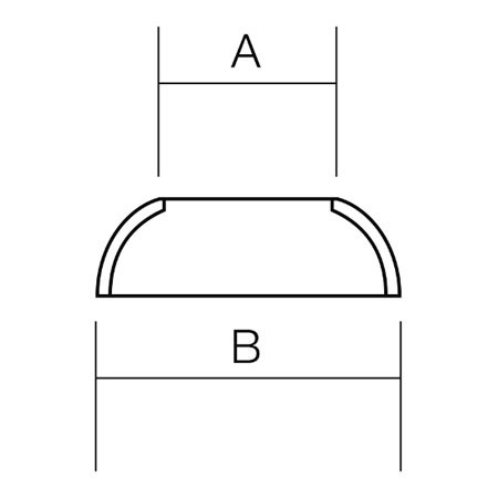 Sta-Lok Stemball Cup Dimensions