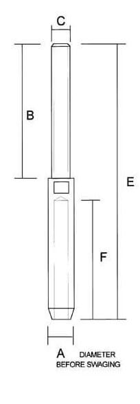 Sta-Lok Swage Stud UNF Thread Dimenions