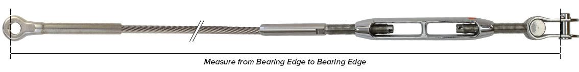 Standing Rigging- Measuring Bearing Edge to Bearing Edge