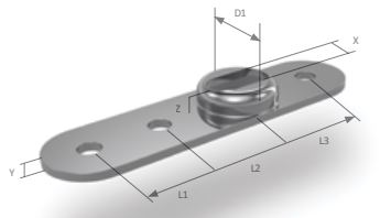 BSI -OS backing plate dimensions diagram
