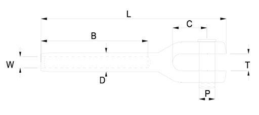 Petersen swage fork dimensions