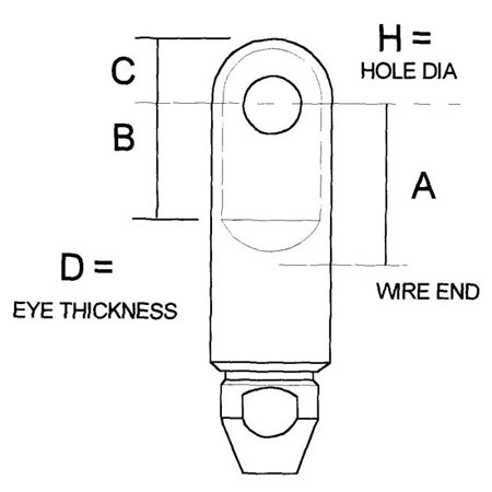 Sta-Lok Swageless Eye Terminal Diagram